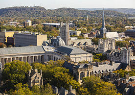 An aerial photo of Yale's campus